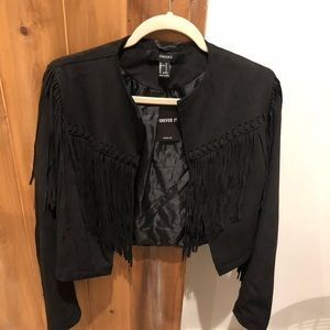 Fringe black jacket